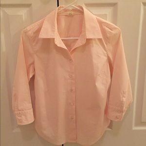 J. Crew 3/4 sleeve button down shirt size PM